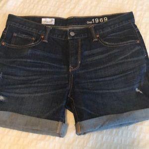 Cuffed GAP Denim Cutoff Shorts Sexy Boyfriend